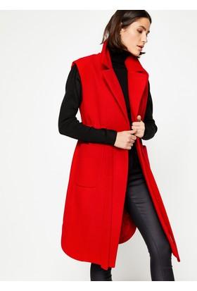 Koton Kadın Beli Bağlamalı Yelek Kırmızı