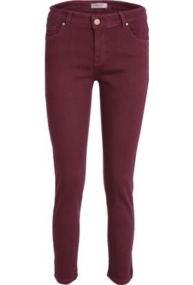 Esquema Jeans Bayan Kot Pantolon Bordo 1095274