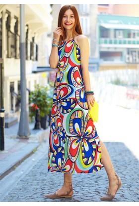 Femme Askılı Crep Elbise