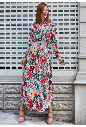 Femme Tüy Kemerli Elbise