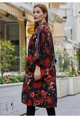 Femme Renkli Kimono