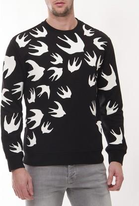 Alexander Mcqueen Amm07 Erkek Siyah Sweatshirt