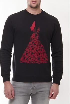Alexander Mcqueen Amm12 Erkek Siyah Sweatshirt