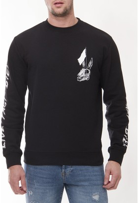 Alexander Mcqueen Amm32 Erkek Siyah Sweatshirt