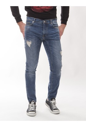 Frankie Morello Fmm01 Erkek Mavi Jean