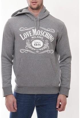 Moschino Mm103 Erkek Gri Sweatshirt