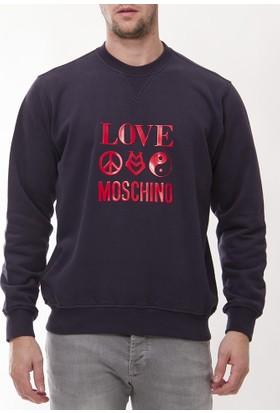 Moschino Mm107 Erkek Lacivert Sweatshirt