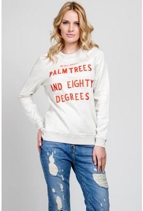 Zoe Karssen Tzy345 Kadın Beyaz Sweatshirt