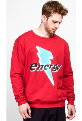 Moschino Lmm-55 Erkek Kırmızı Sweatshirt