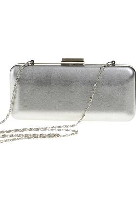 Esmoda Sç-002 Kadın Gümüş Lavezzi Abiye Clutch Çanta