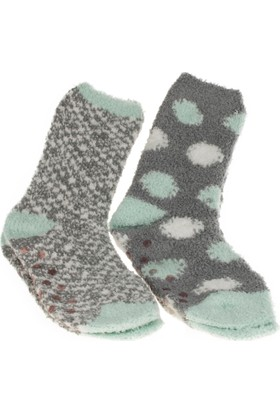 Twigy L0724 Tw Elisa Kadın Turkuaz Ev Çorabı