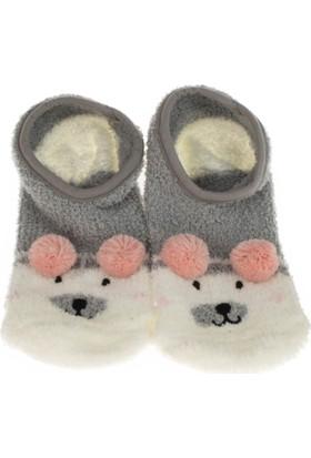 Twigy L0729 Tw Karenza Kadın Gri Ev Çorabı