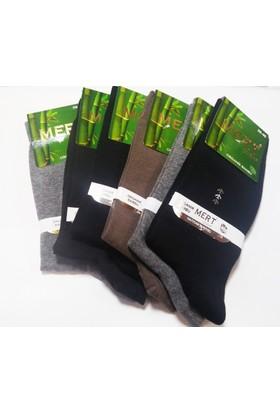 Mert Erkek Organık Kışlık Bambu Çorap 6 Lı Set 40-44