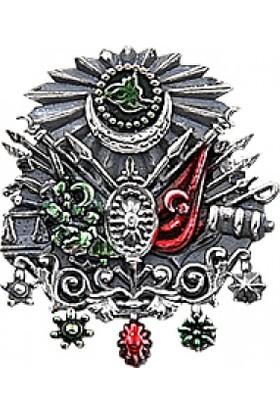 Tevuli 925 Ayar Gümüş Osmanlı Devlet Arması Rozet Rz14635
