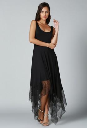 Quincey Eteği Asimetrik Elbise
