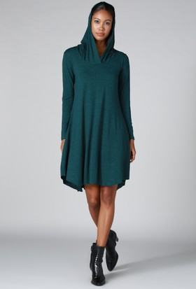 Quincey Kapüşonlu Elbise