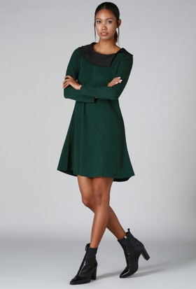 Quincey Yakalı Elbise