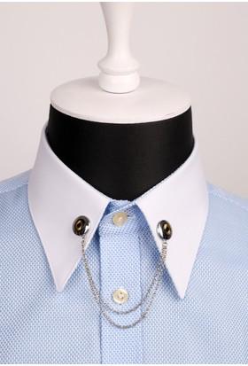 La Pescara Zincirli Gömlek Yaka İğnesi Gı045