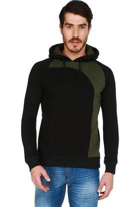 Mumu Siyah Kapüşonlu Sweatshirt