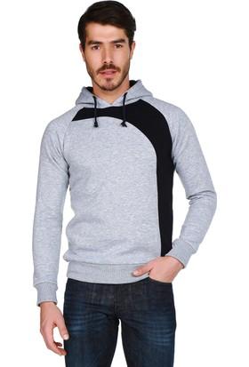 Mumu Gri Lacivert Kapüşonlu Sweatshirt