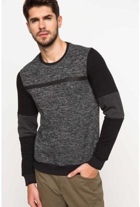 DeFacto Erkek Trend Sweatshirt Antrasit