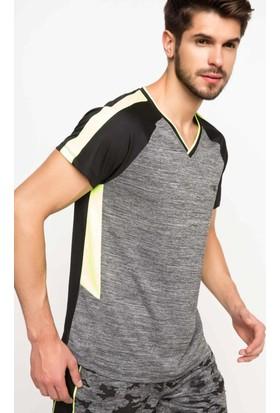 DeFacto Erkek Sporcu T-Shirt Gri