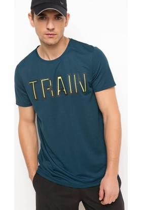 DeFacto Erkek Baskılı Sporcu T-Shirt Yeşil