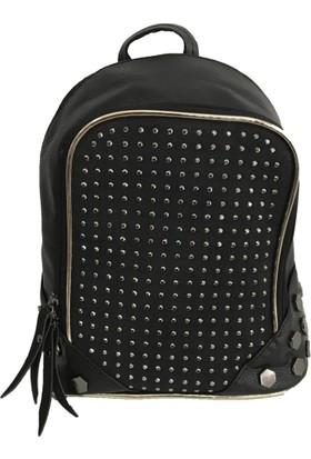 Çanta Stilim Suni Deri 2318-S Siyah Renk Sırt Ve Çapraz Bayan Çantası