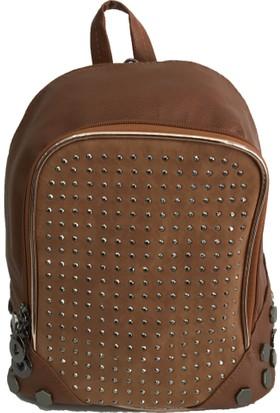 Çanta Stilim Suni Deri 2318-T Taba Renk Sırt Ve Çapraz Bayan Çantası