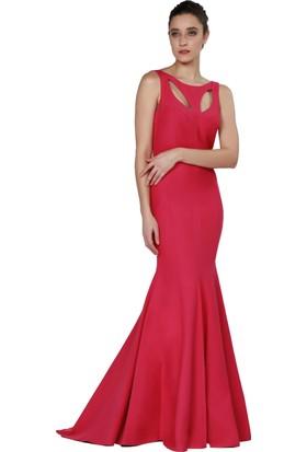 Pierre Cardin Kırmızı Askılı Uzun Balık Abiye Elbise