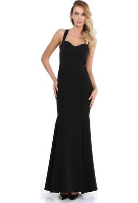 Pierre Cardin Siyah Sırt Dekolteli Uzun Abiye Elbise