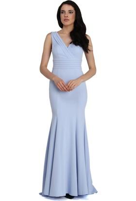 Pierre Cardin Bebe Mavi Sırt Dekolteli Balık Abiye Elbise