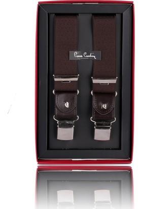 Pierre Cardin Kahverengi Motif Desen Pantolon Askısı Pa45