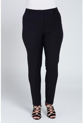 Rmg Bayan Büyük Beden Kumaş Pantolon Siyah
