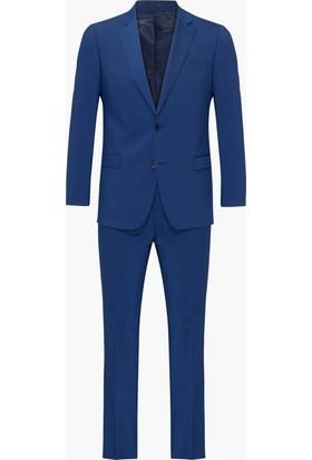 Hateko Altınyıldız Kırışmayan Yıkanabilen Mavi Takım Elbise