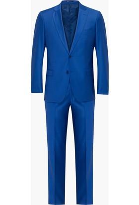 Hateko Altınyıldız Slim Fit Saks Mavi Takım Elbise
