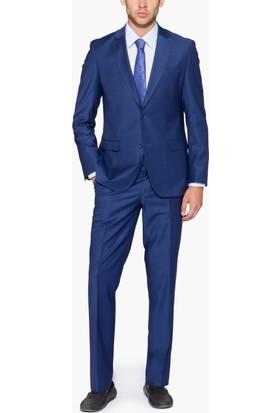 Hateko Altınyıldız Slim Fit Koyu Mavi Takım Elbise