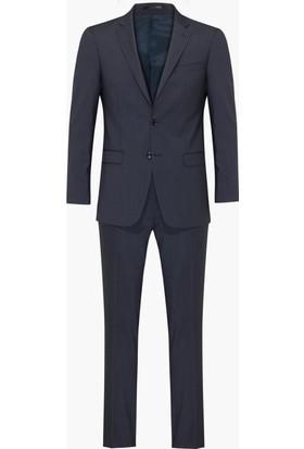 Hateko Mavi Kareli Takım Elbise