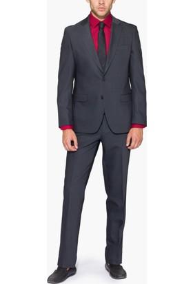 Hateko Altınyıldız Slim Fit Gri Takım Elbise