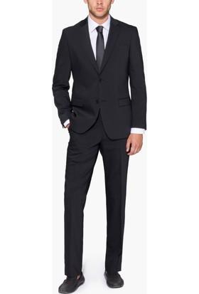 Hateko Altınyıldız Kırışmayan Yıkanabilen Slim Fit Siyah Takım Elbise