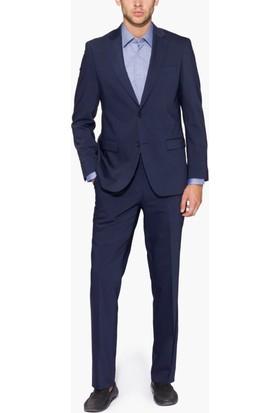 Hateko Altınyıldız Kırışmayan Yıkanabilen Slim Fit Lacivert Takım Elbise