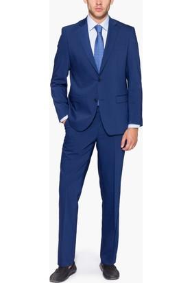 Hateko Altınyıldız Kırışmayan Yıkanabilen Slim Fit Mavi Takım Elbise