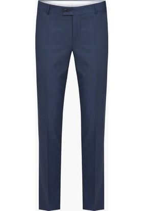 Hateko Klasik Kesim Kareli Desen Füme Erkek Kumaş Pantolon