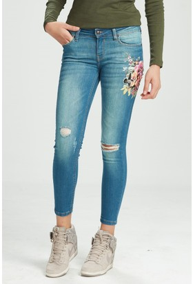 Vena Angel Green Tint Dark Denim Pantolon Yeşil