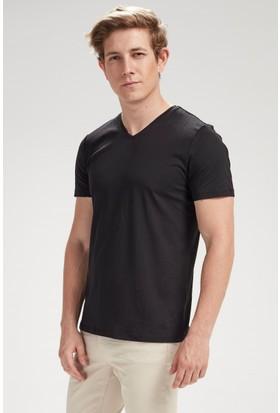 Vena Steve V Yaka T-Shirt Siyah 1402734