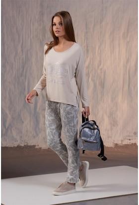 Gizzey Baskılı Bayan Pantolon Takım 20146
