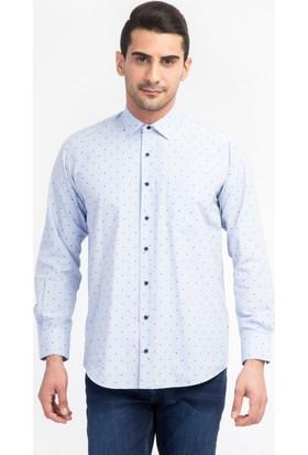 Kiğılı Uzun Kol Desenli Gömlek