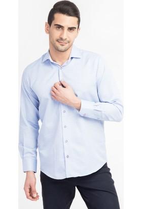 Kiğılı Uzun Kol Desenli Tasarım Gömlek