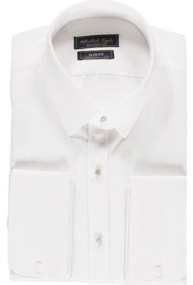 Kiğılı Uzun Kol Slim Fit Manşetli Gömlek