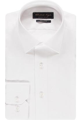 Kiğılı Uzun Kol Slim Fit Oxford Gömlek